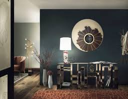 modern wall mirrors dining and living