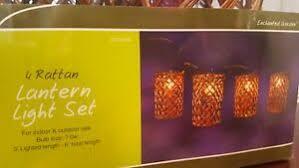 enchanted garden 4 rattan lantern set