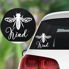 Bee Decal Bee Kind Decal Be Happy Sticker Queen Bee Etsy In 2020 Bee Decals Happy Stickers Bee Decor