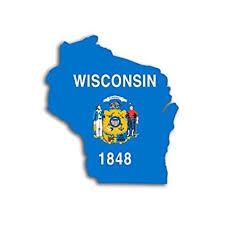 Wisconsin Shaped Wisconsin State Flag Sticker Decal Car Decal Size 3 X 4 Inch Walmart Com Walmart Com