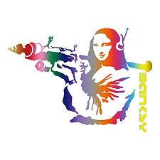 Amazon Com Mona Lisa With Bazooka Banksy Car Window Vinyl Decal Sticker Ml 01 Handmade