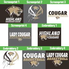 Highland Basketball Window Decal Design It Apparel