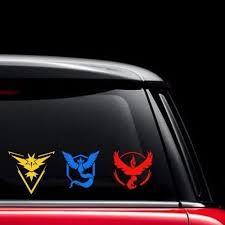 Pokemon Go Team Mystic Valor Instinct Car Window Cling Decal Motor Stickers11 11 Wish