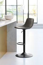 wyatt adjustable black leg bar stool