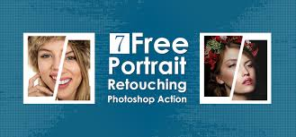 portrait retouching photo action