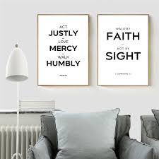 hitam putih quote seni kanvas lukisan cetak cinta kasih kristen
