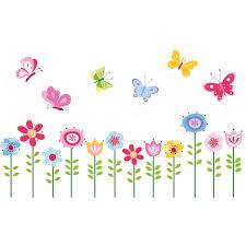 Shop Bright Butterfly Garden Peel Stick Kids Room Nursery Wall Decal For Boys Girls Overstock 9193413