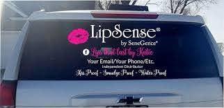 Lipsense Vinyl Decal Car Decal Business Logo Decal Lip Boss Company Compliant Car Sticker Sticker Decal Senegence Approved Car Decals Car Decals Vinyl Business Logo