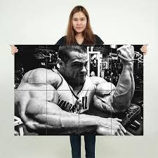 Evan Centopani Biceps Workout Block Giant Wall Art Poster