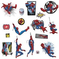 Marvel Ultimate Spider Man Comic Wall Decals Superhero Spider Man Stickers Walmart Com Walmart Com