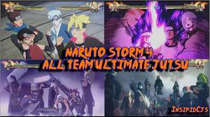 Naruto Storm 4: All Team Ultimate Jutsu / Linked Secret Techniques ...