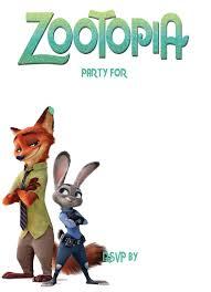 Free Printable Zootopia Invitation Template Cumpleanos Primer Anito