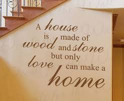 a house made wood and stone home family love wall decal adhesive