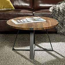 industrial urban round coffee table