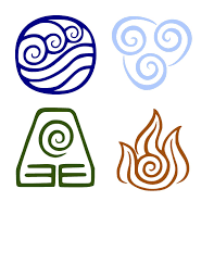 Avatar The Last Airbender The Four Elements Avatar Decal Water Earth Fire Air Decal Car Deca Avatar Theme Element Symbols Avatar The Last Airbender Art