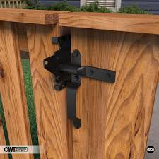 Standard Gate Latch With Handle Ozco Building Products Gate Latch Wood Fence Gates Wood Fence