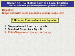 graph and write linear equations in
