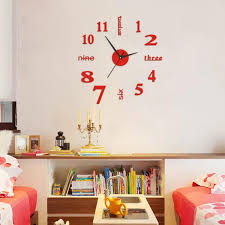 Home Wall Sticker English Numbers Diy Small Clock Red Modern Decal Wall Clock Home Kitchen Roman Diy Mirrors Station Wall Clock Steel Wall Clock From Galry 26 00 Dhgate Com