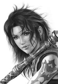 FANG FROM FINAL FANTASY XIII PENCIL DRAWING by Artist Sophie Lawson