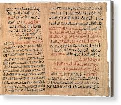 Edwin Smith Papyrus Acrylic Print by National Library Of Medicine