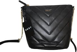 dkny bucket veronica quilted purse