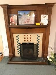 oak fireplace surround mantel