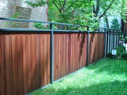 Metal Fence With Wood J Franco Steel Porches Wood And Wrought Iron Fences Wood Fence Design Fence Design Iron Fence
