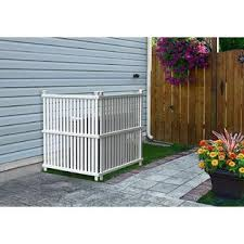 Zippity Outdoor Products Outdoor Privacy Screen Panels Fence Divider Hide Air Conditioner Trash Can White