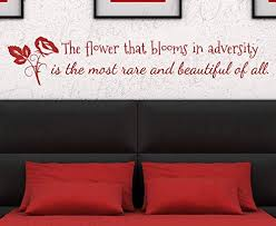 Amazon Com Decals For Mulan Flower Blooms Adversity Disney Girl Room Kid Nursery Vinyl Large Wall Decal Quote Sticker Lettering Art Decor Saying Decoration Mtx12 Home Kitchen