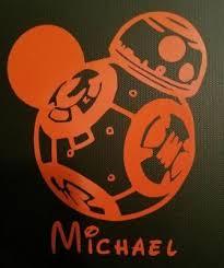 Disney Personalized Mickey Bb8 Star Wars Vinyl Window Car Decal Sticker Ebay