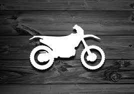 Dirt Bike Vinyl Decal Mountain Decal Dirt Bike Accessories Etsy