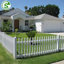 China Durable White Fence Garden Community White Picket Fence Garden Edging China Pvc Fence Panels And White Vinyl Picket Fence Price