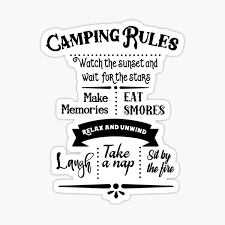 Camping Rules Stickers Redbubble
