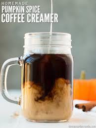 homemade pumpkin e creamer coffee