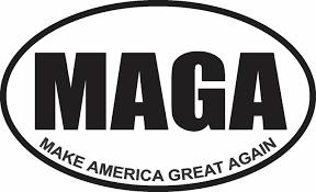 Make America Great Again Maga Trump Decal Window Bumper Sticker Politi Decals Hut