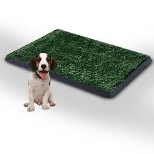 Pawhut Indoor Portable Puppy Toilet Training Mat Potty Tray Grass Restroom Dog Training Aosom Uk