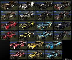 All Org Decals In One Image Rocketleague