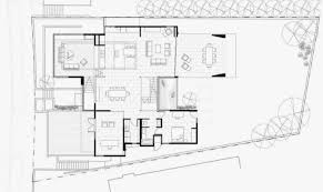 first floor plan modern house many open