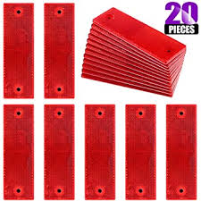 Amazon Com Ab Tools Red Large Rectangular Rear Reflector Pack Of 10 Trailer Fence Gate Post Tr073 Garden Outdoor