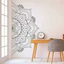 Amazon Com Iriceye Wall Stickers Removable Adhesive Half Mandala Wall Sticker Decal Mural Meditation Home Decor Home Kitchen
