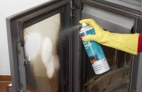 how to clean fireplace glass doors to