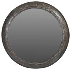 44 rocco mirror hammered metal frame