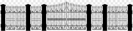Fence Iron Black And White Steel Fence Silhouette Outdoor Structure Home Fencing Png Pngegg