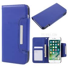 fashionable movable leather wallet case