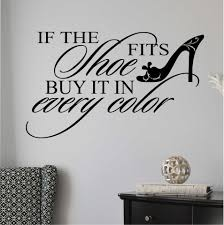 Wall Decal Shoe Fits Buy In Every Color Funny Female Decor