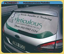 Car Rear Window Sticker Bus Side Widnow Sticker Products Shenzhen Pioneer Advertising Display Co Ltd