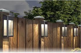 Solar Powered Fence Post Lights Solar Fence Lights Post Lights Pool Landscape Design