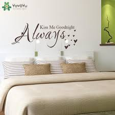 Quote Wall Decal Always Kiss Me Goodnight Master Bedroom Wall Stickers Headboard Vinyl Removable Home Decor Art Diy Cheap Wall Stickers For Bedrooms Child Wall Stickers From Joystickers 10 13 Dhgate Com