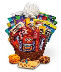 junk food snack baskets delivered today