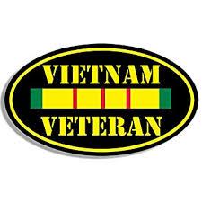 Amazon Com Magnet 3x5 Inch Oval Vietnam Veteran Sticker Decal Army Vet Military Ribbon Bumper Magnetic Vinyl Bumper Sticker Sticks To Any Metal Fridge Car Signs Kitchen Dining